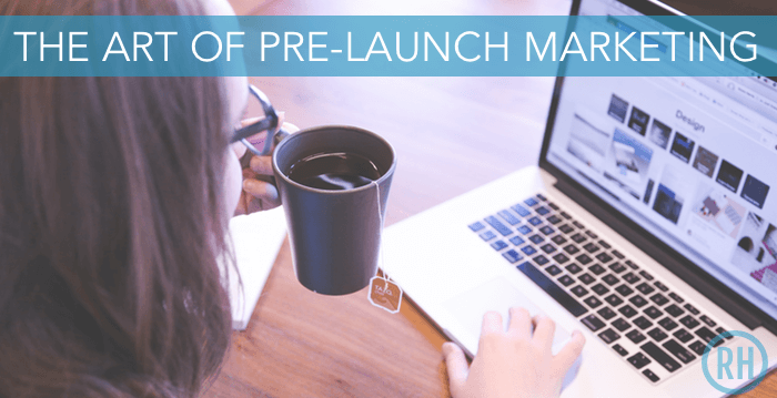 Woman in front of her computer getting ready to pre-launch her company